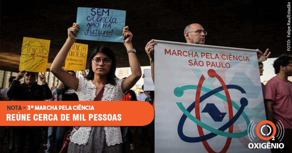 3º Marcha pela Ciência reúne cerca de mil pessoas na Avenida Paulista
