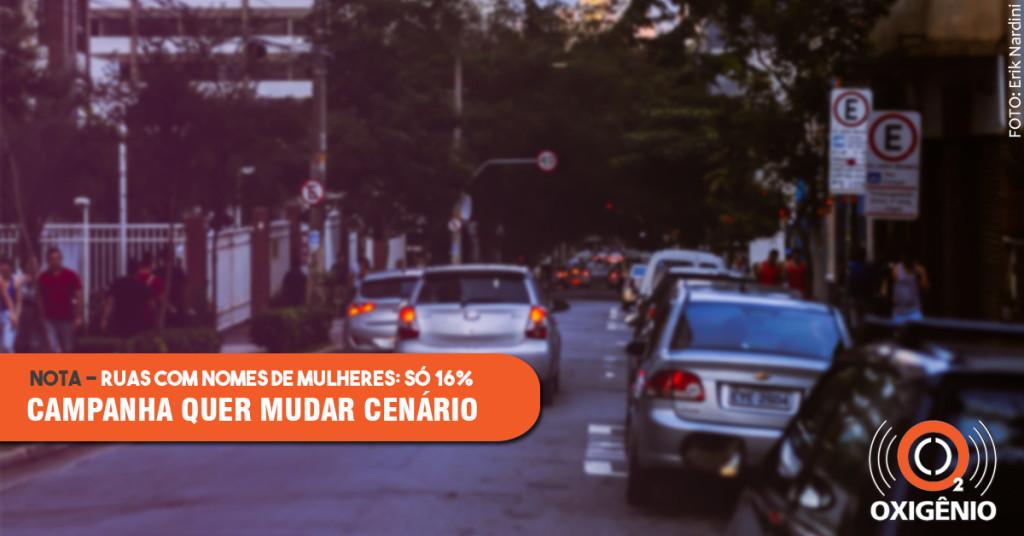 Campanha quer mais homenageadas entre nomes de ruas