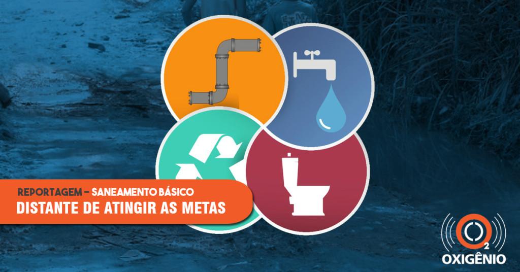 Brasil continua distante das metas de saneamento básico